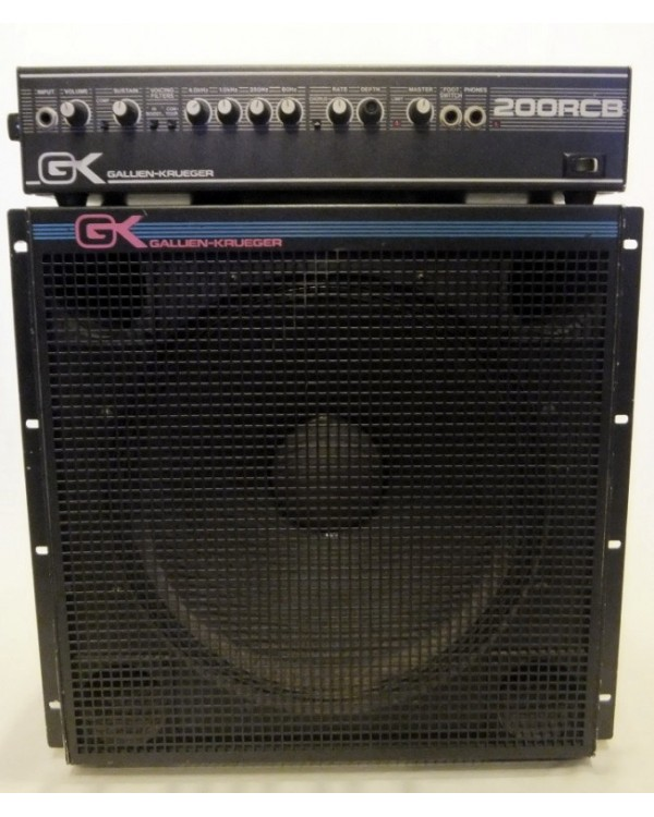 Gallien-Krueger 200RCB Electric Bass Guitar Amplifier Head + GK 115LB (USED) SOLD