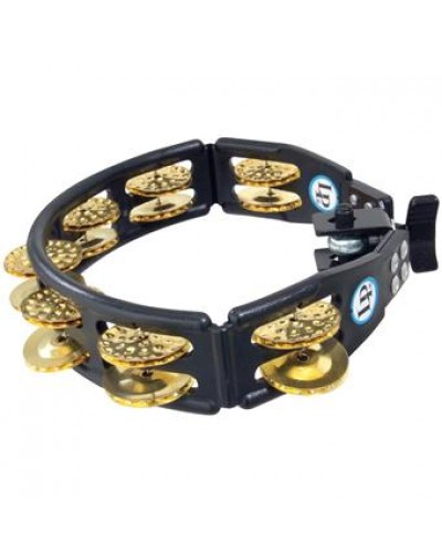 Latin Percussion LP-175 Cyclops, Brass Jingles, Black, Mountable Tambourine